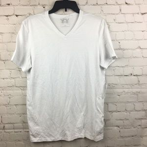 NWT Calvin Klein SS Slim Fit V-Neck White Tee M